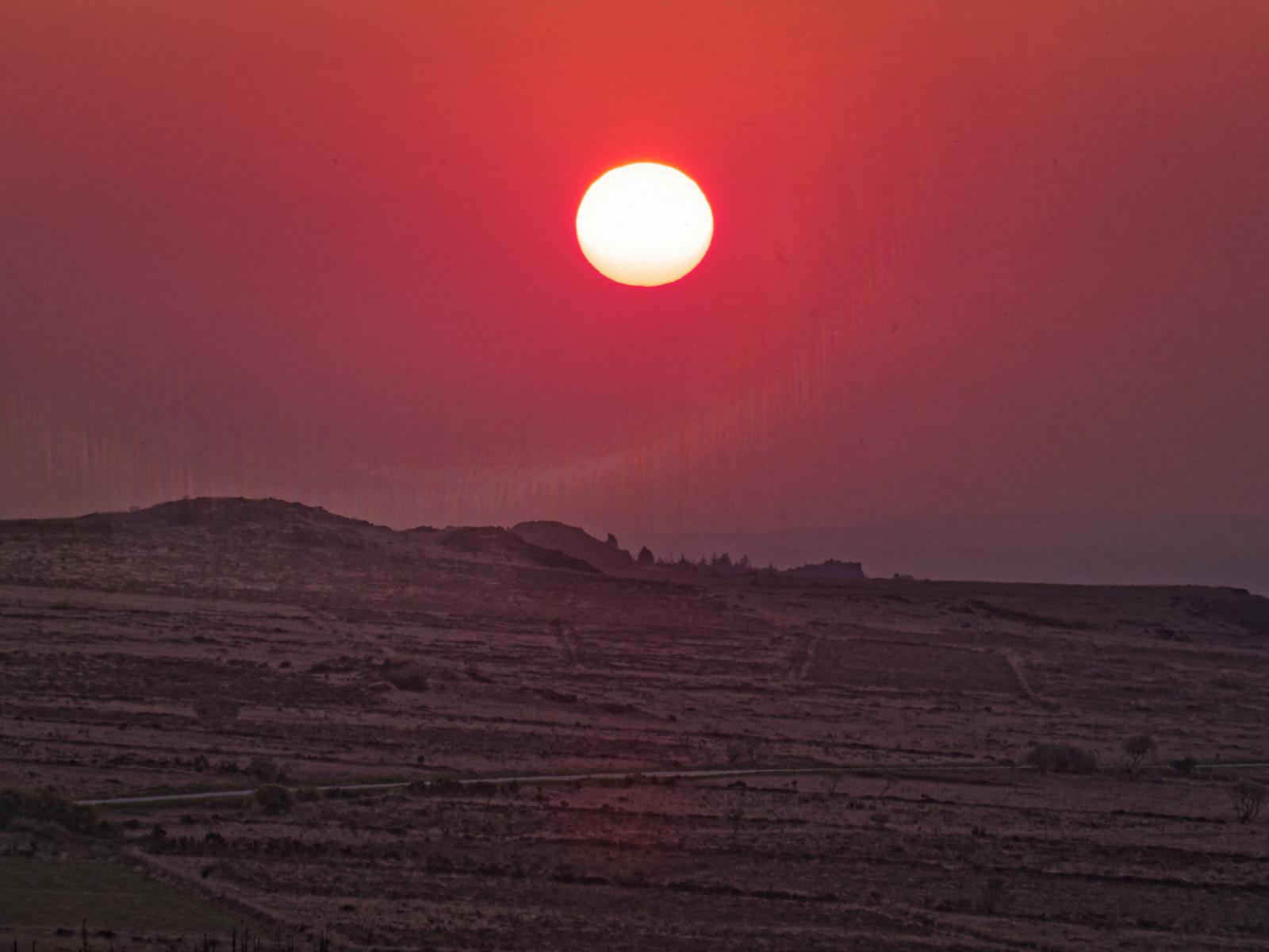 Dune, Arrakis, sunrise, soleil, Bretagne, Monts d'Arrée