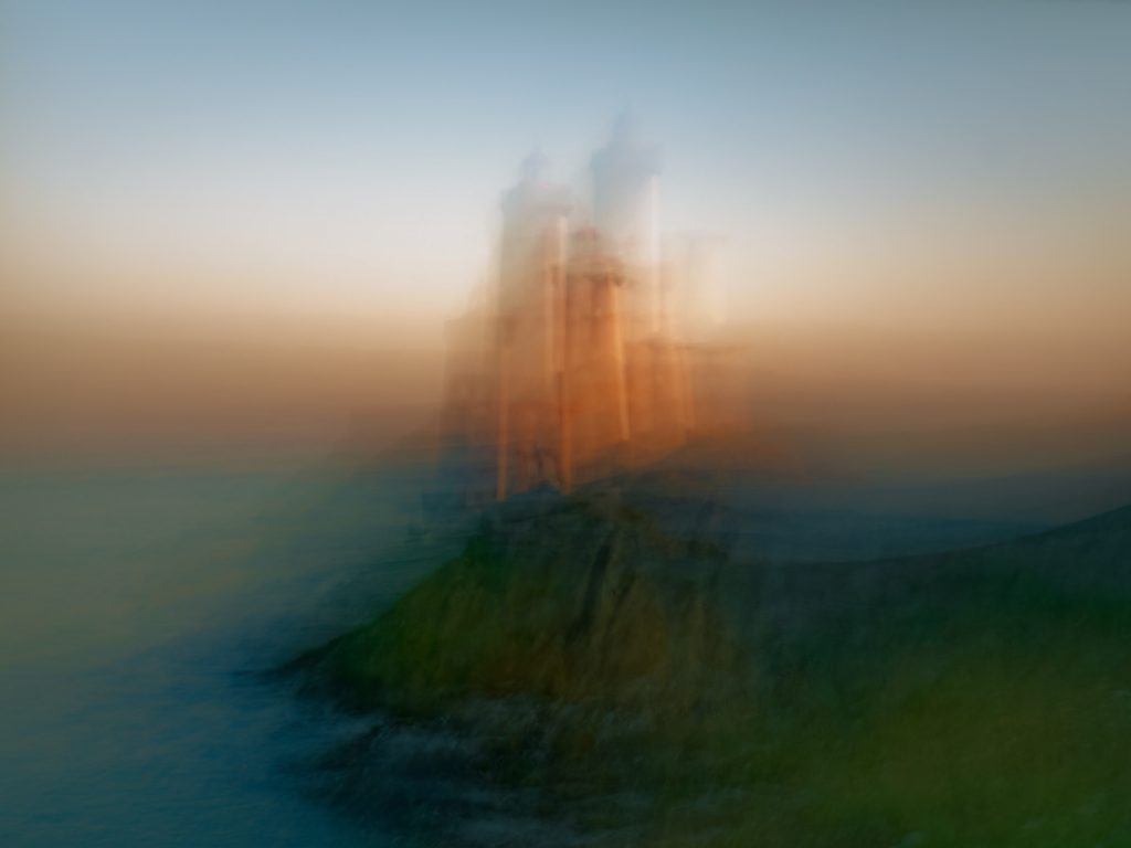 Bretagne, Brittany, ICM, Intentional camera movement, sunset, seascape, paysage marin, mer, ocean océan, sea, phare, lighthouse, Petit Minou